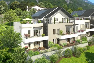 Programme immobilier neuf Corenc - Villa Blanca - Loi Pinel, Residence Principale - Investir en immobilier neuf Corenc