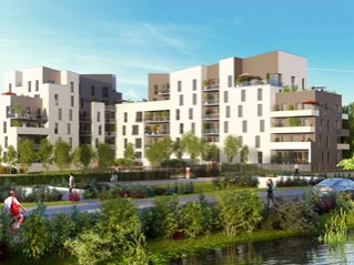 Programme immobilier neuf Caen - Quai ouest - Loi Pinel, Residence Principale - Investir en immobilier neuf Caen