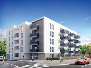 Programme immobilier neuf Bron - Cote marche - Loi Pinel, Residence Principale - Investir en immobilier neuf Bron
